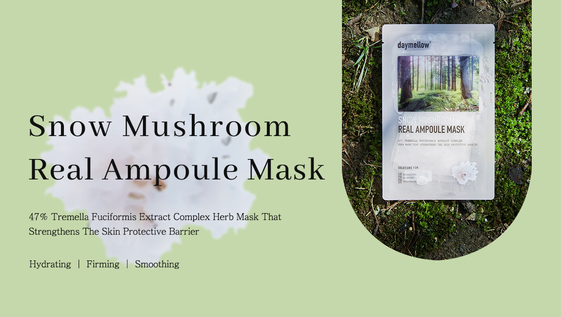 Daymellow Snow Mushroom Real Ampoule Mask