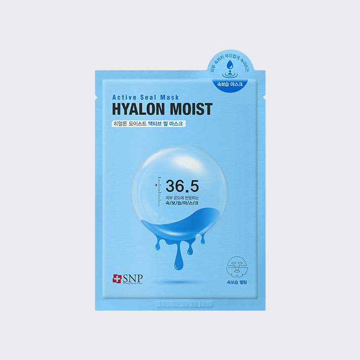 SNP Hyalon Moist Active Seal Mask,K Beauty