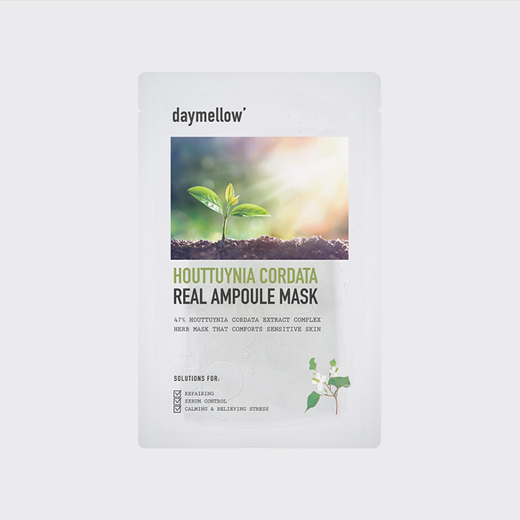 DAYMELLOW Houttuynia Cordata Real Ampoule Mask,K Beauty