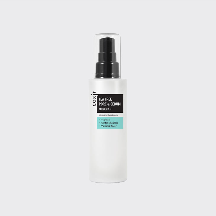 COXIR Tea Tree Pore & Sebum Emulsion,K Beauty