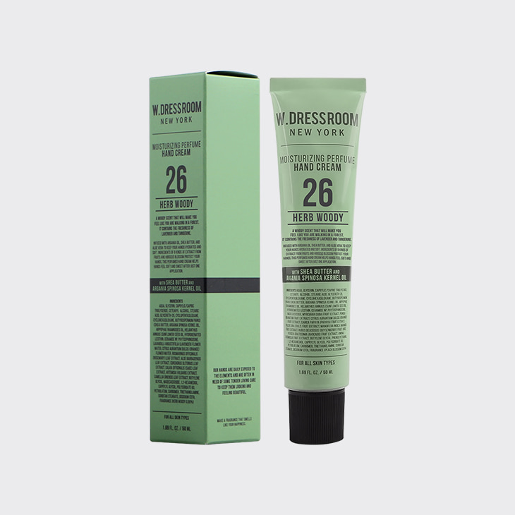 W.DRESSROOM Perfume Hand Cream No.26 Herb Woody,K Beauty